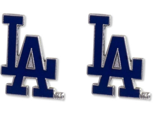 Los Angeles Dodgers Aminco Inc. Logo Post Earrings