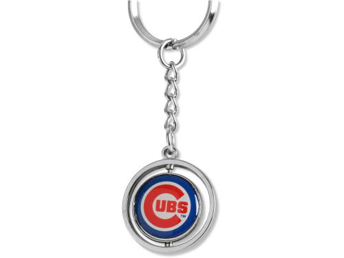 Chicago Cubs Rubber Baseball Spinning Key Ring