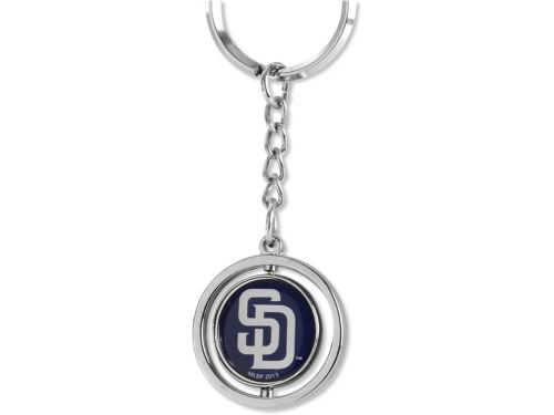 San Diego Padres Rubber Baseball Spinning Key Ring