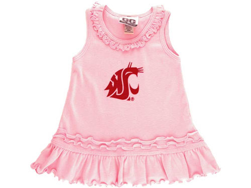 Washington State Cougars NCAA Toddle Ruffle Tank Dress