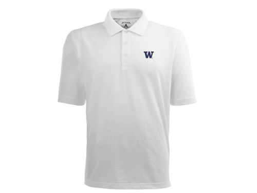 Washington Huskies Antigua NCAA Pique Xtra-Lite Polo