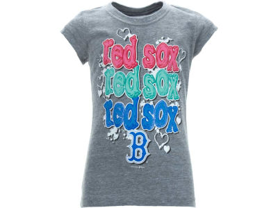 Boston Red Sox MLB Girls Vneck Triblend 10049