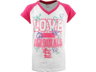 St. Louis Cardinals MLB Girls Slub Vneck Raglan