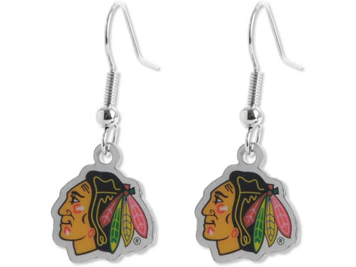 Chicago Blackhawks Aminco Inc. Logo Earrings