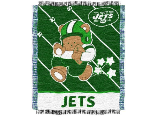 New York Jets The Northwest Company NFL 36x46 Woven Jacquard Baby Throw