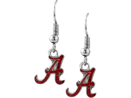 Alabama Crimson Tide Glitter Dangle Earrings Aminco