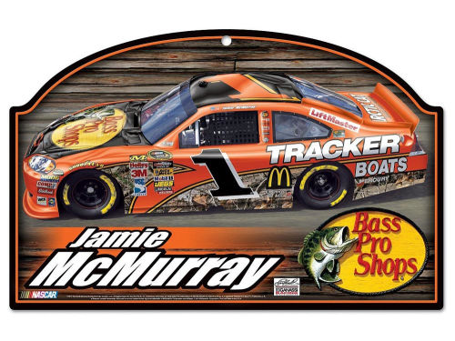Jamie McMurray Wincraft Nascar Wood Sign 11x17