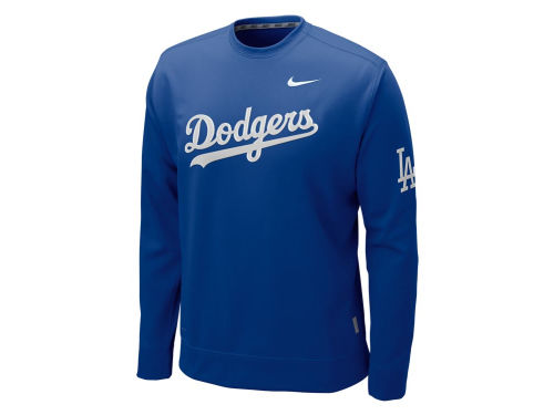Los Angeles Dodgers Nike MLB KO Therma-Fit Fleece Crew