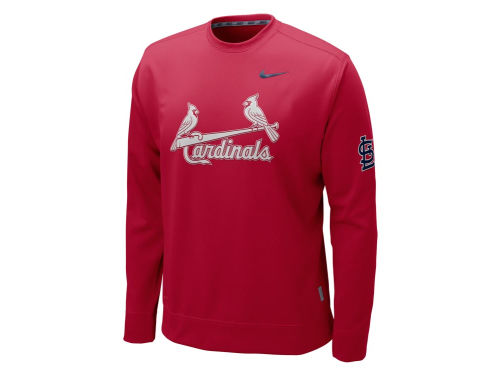 St. Louis Cardinals Nike MLB KO Therma-Fit Fleece Crew