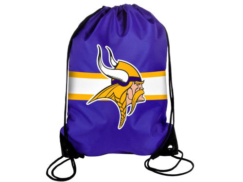 Minnesota Vikings NFL Team Stripe Drawstring Backpack