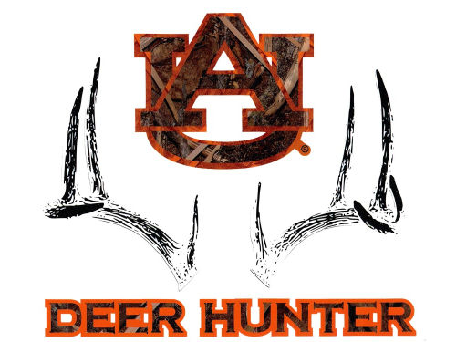 Auburn Tigers Collegiate Camo Large Deer Decal