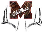 Mississippi Rebels Collegiate Camo Large Deer Decal Auto Accessories