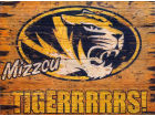 Missouri Tigers Vintage Wood Sign NCAA Collectibles
