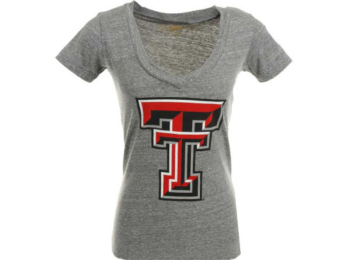 Texas Tech Red Raiders NCAA Womens DR Solid V-Neck T-Shirt