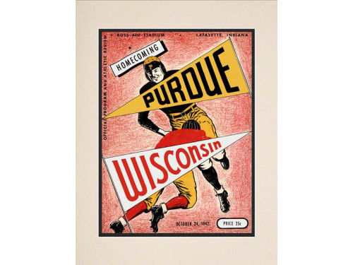 Purdue Boilermakers Mounted Memories Matted 16x20 Historic Program Cover