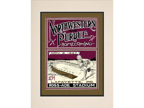 Purdue Boilermakers Mounted Memories Matted 10.5x14 Historic Progam Cover