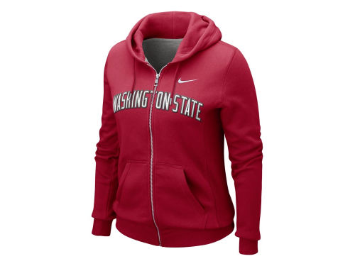 Washington State Cougars Nike NCAA Womens Fullzip Hoody