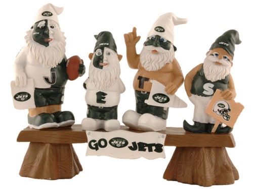 New York Jets NFL Fan Gnome Bench
