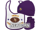 Minnesota Vikings NFL Newborn Creeper, Bib & Hat Set Infant Apparel