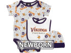Minnesota Vikings NFL Newborn Hat, Bib & Bootie Set Infant Apparel