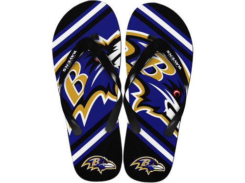 Baltimore Ravens Forever Collectibles Big Logo Flip Flop-NFL