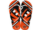 Cincinnati Bengals Forever Collectibles Big Logo Flip Flop-NFL Apparel & Accessories