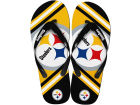 Pittsburgh Steelers Forever Collectibles Big Logo Flip Flop-NFL Apparel & Accessories