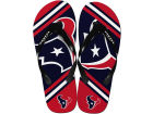 Houston Texans Forever Collectibles Big Logo Flip Flop-NFL Apparel & Accessories