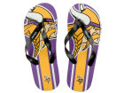 Minnesota Vikings Forever Collectibles Big Logo Flip Flop-NFL Apparel & Accessories