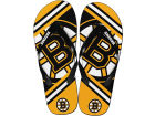 Boston Bruins Forever Collectibles Big Logo Flip Flop-NHL Apparel & Accessories