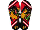 Chicago Blackhawks Forever Collectibles Big Logo Flip Flop-NHL Apparel & Accessories