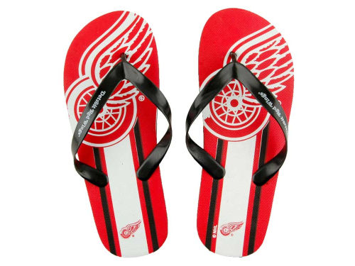Detroit Red Wings Forever Collectibles Big Logo Flip Flop-NHL