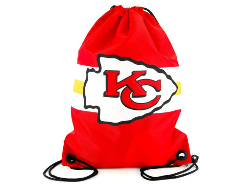 Kansas City Chiefs NFL Team Stripe Drawstring Backpack