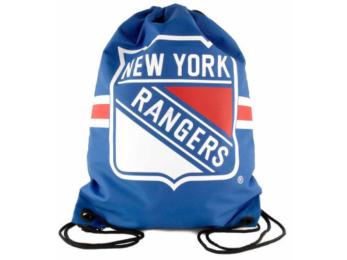 New York Rangers NHL Team Stripe Drawstring Backpack