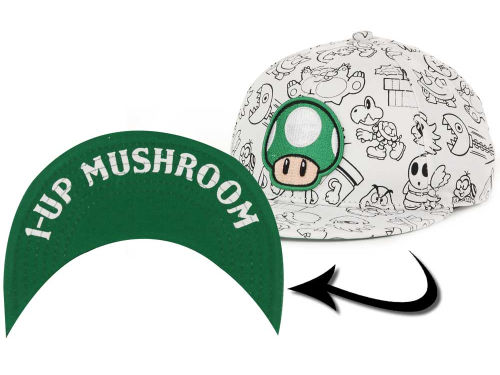 Nintendo Mush All Over Youth Cap Hats