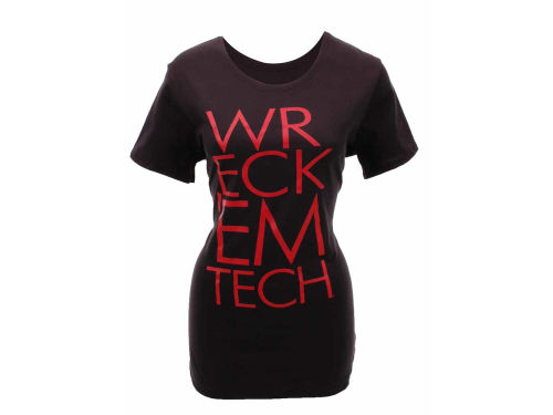 Texas Tech Red Raiders Under Armour NCAA Womens Charged Cotton Attitude V-Neck T-Shirt