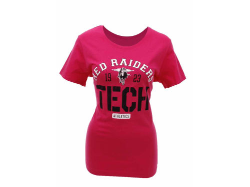 Texas Tech Red Raiders Under Armour NCAA Womens Charged Cotton Stencil T-Shirt