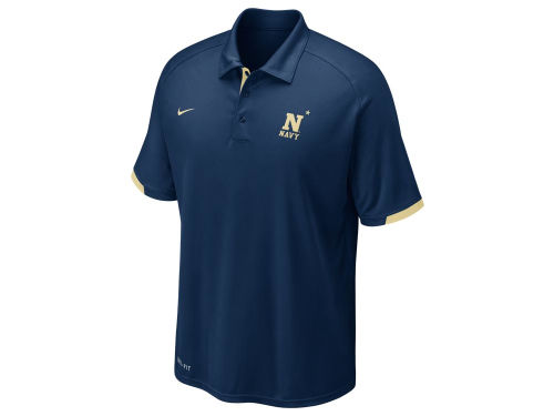 Navy Midshipmen Nike NCAA Football Training Polo