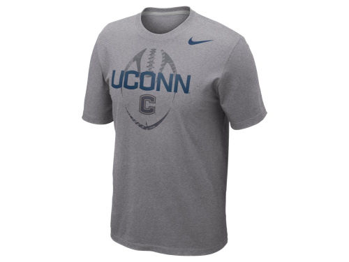 Connecticut Huskies Nike NCAA Football Team Issue T-Shirt
