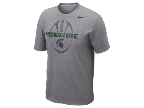 Michigan State Spartans Nike NCAA Football Team Issue T-Shirt