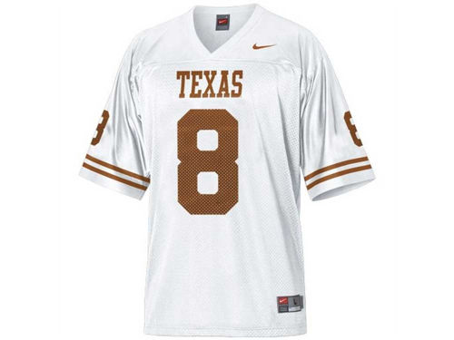 Texas Longhorns #8 Nike NCAA Replica Football Jersey