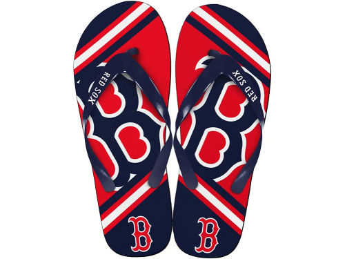 Boston Red Sox Forever Collectibles Big Logo Flip Flop-MLB