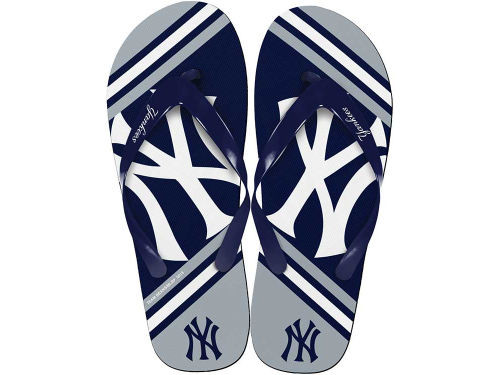 New York Yankees Big Logo Flip Flop-MLB