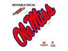 Mississippi Rebels Moveable 12x12 Decal Auto Accessories