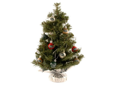 Forever Collectibles Table Top Tree with 16 Ornaments-NFL
