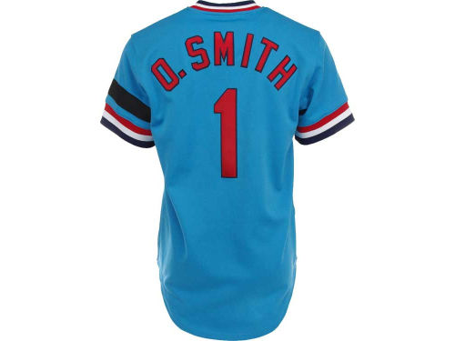 St. Louis Cardinals Ozzie Smith Mitchell and Ness MLB Men's Authentic Jersey