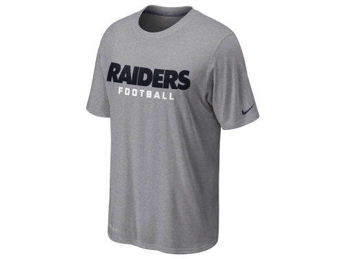 Oakland Raiders Nike NFL Legend Authentic Font T-Shirt