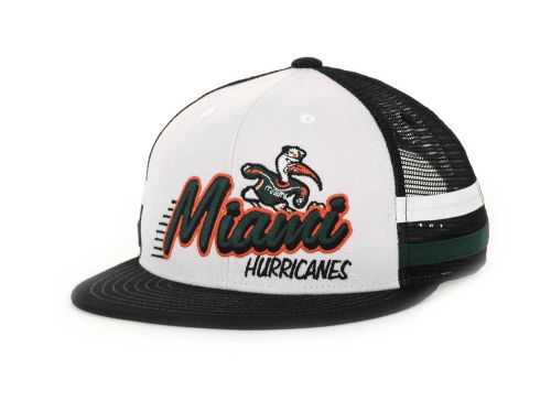 Miami Hurricanes Top of the World NCAA Supra Stripe MB Snapback Cap Hats