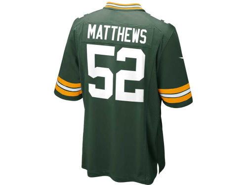 Green Bay Packers Clay Matthews Nike NFL Men's Game Jersey