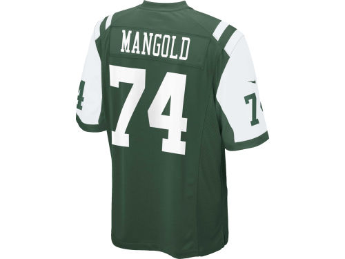 New York Jets Nick Mangold Nike NFL Game Jersey Extended Size